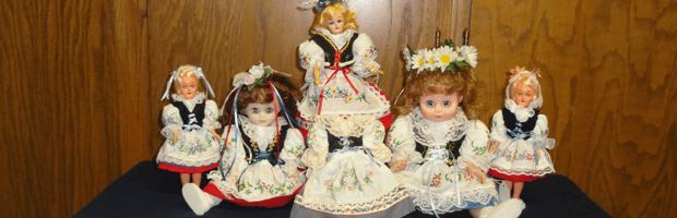Czech decorative dolls wearing traditional Czech clothes.