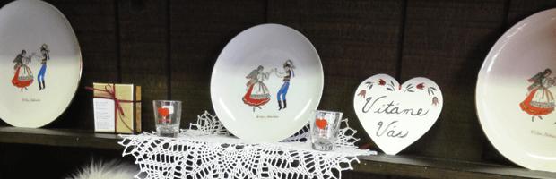 Decorative Czech style plates.